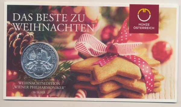 Wiener Philharmoniker 1 Unze Feinsilber (999) Weihnachtsedition 2019-Copy