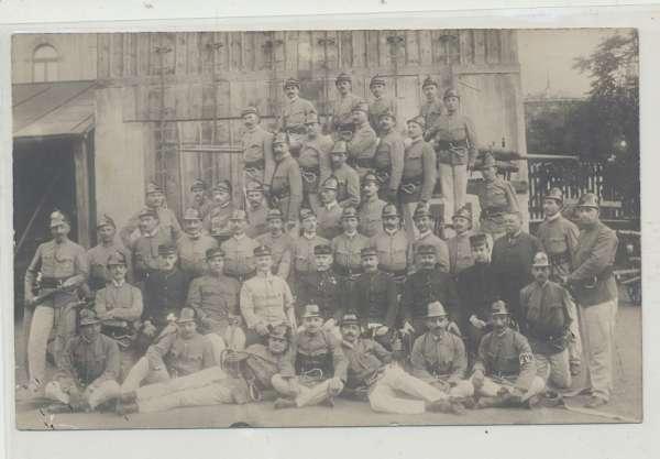 Feuerwehr Gruppenbild (Rumänien,o.Ungarn?)ca.1910