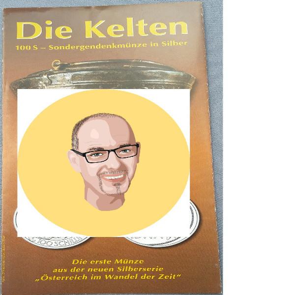 2000 100 Schilling Silber - Die Kelten nur Flyer Folder