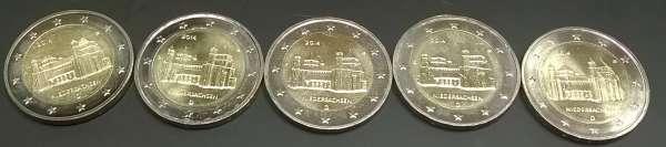 2 Euro Deutschland 2014 Niedersachsen