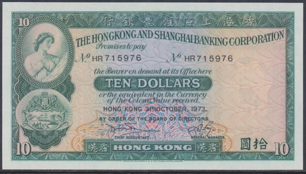 Hongkong - 10 Dollars 1983 UNC - Pick 182