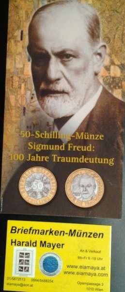 50 Schilling 2000 Sigmund Freud Blister HgH Bimetall