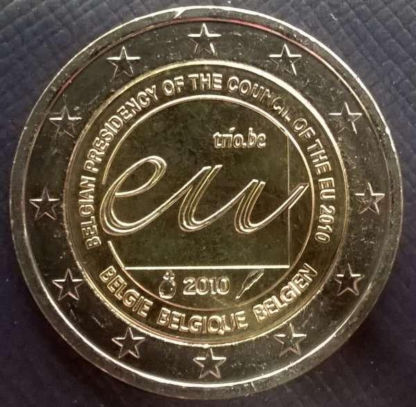 2 Euro Belgien 2010 Ratspräsidentschaft