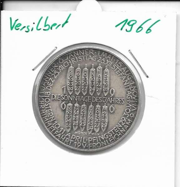 1966 Kalendermedaille Jahresregent Universität s Bund Innsbruck Bronze versilbert
