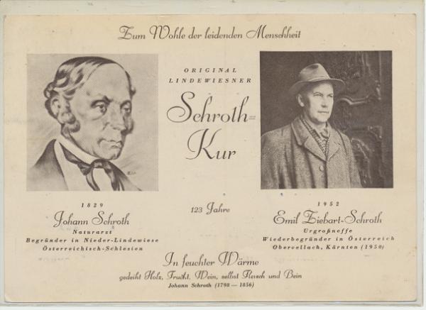 Original Lindewiesner Schroth Kur ca.1952