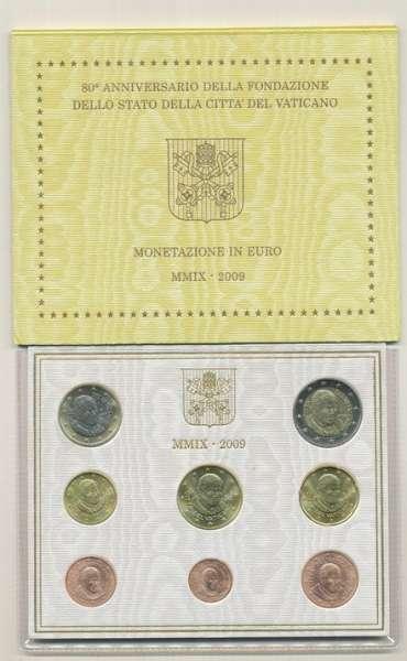 Kursmünzensatz Vatikan 2009 KMS Coinset