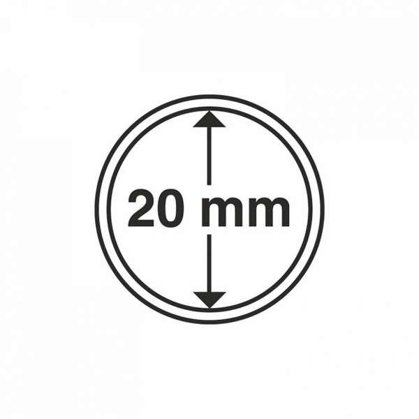 MÜNZKAPSELN CAPS 20 MM, 10 ER PACK