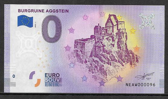 Ank.Nr.36 Burgruine Aggstein Unc 0 Euro Schein 2020-1
