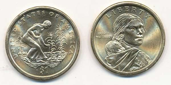 1 Dollar USA 2009 D Sacagawea - Nativ Dollar