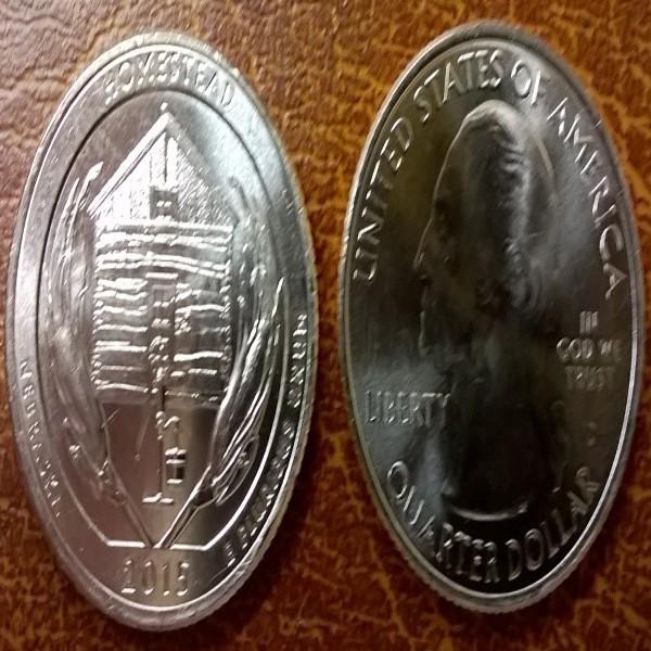 USA 25 Cent 2015 D Homestead (26)