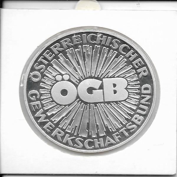 70 Jahre ÖGB Silber Österreichischer Gewerkschaftsbund