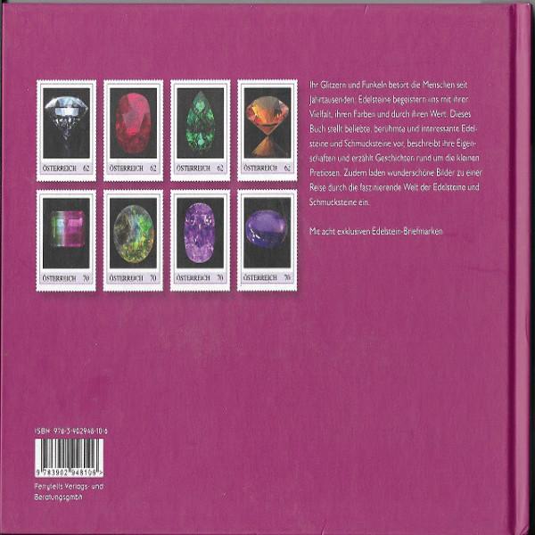 Briefmarkenbuch Edelsteine und Schmucksteine mit 8 exklusiven Marken