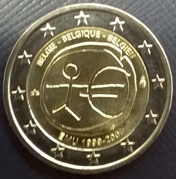 2 Euro Belgien 10 Jahre Euro 2009 WWU