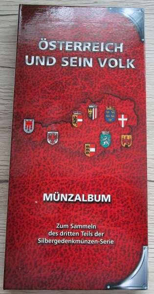 Münzalbum für 500 Schilling Silbermünzen Österreich und sein Volk 3.Teil