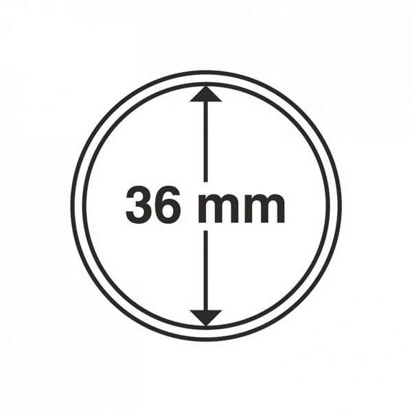 MÜNZKAPSELN CAPS 36 MM, 10 ER PACK
