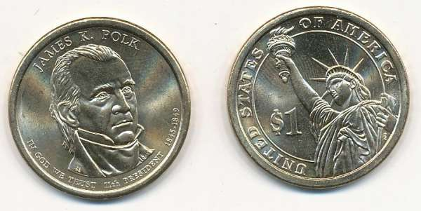USA 1 Dollar 2009 P James Polk (11)