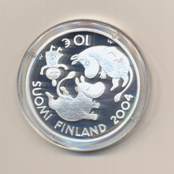 10 Euro 2004 Finnland PP Ag Silber Tove Jansson finnlandschwedische Schriftstellerin