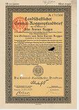 Central Roggenpfandbrief über zehn Zentner Roggen 1924