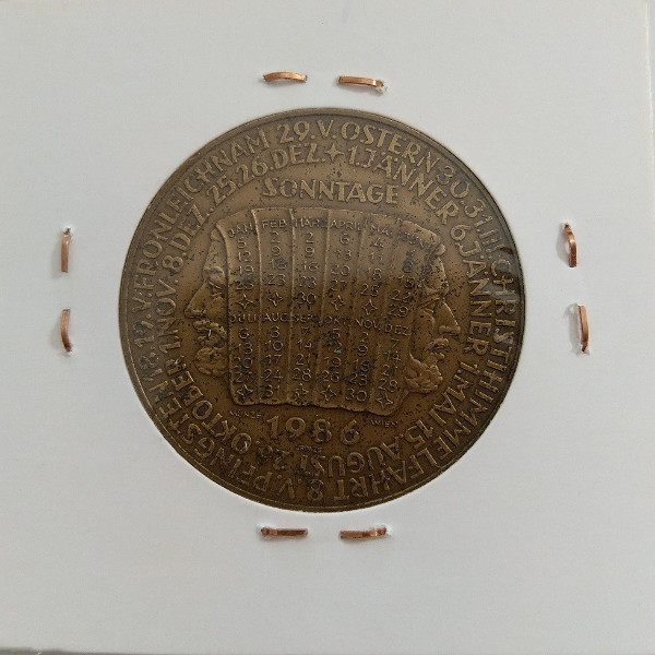1980 Kalendermedaille Jahresregent Bronze