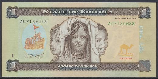 Eritrea - 1 Nakfa 2015 UNC - Pick 13