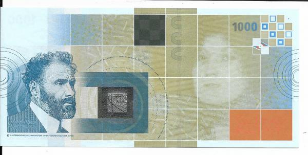 Gustav Klimt 1000 Austria OEBS0009942 UNC Original