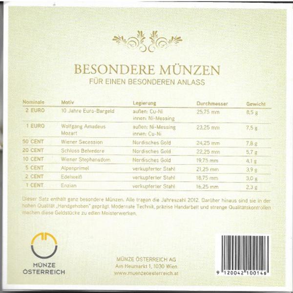 2012 Babysatz Euro Kursmünzensatz KMS Mintset Österreich