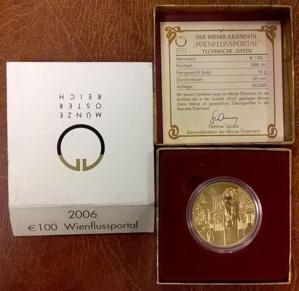 2006 - 100 Euro Gold Wienflussportal (2006)