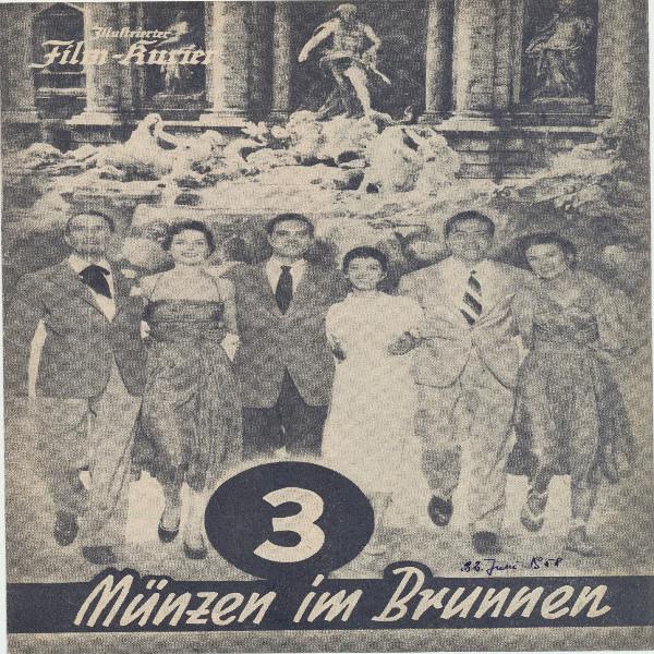 Illustrierter Film - Kurier 3 Münzen im Brunnen Nr 2063/1955