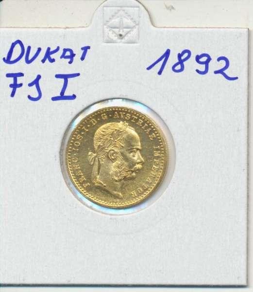 1 Dukaten 1892 Original Franz Joseph I