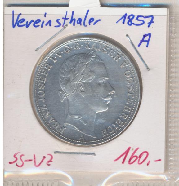 1 Vereins-Taler 1 1/2 Gulden 1857 A Silber