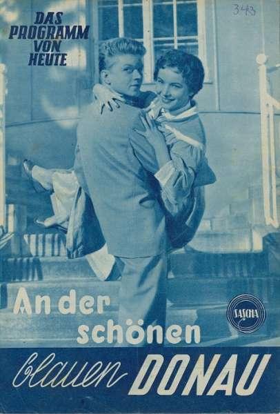 An der schönen blauen Donau Nr.343-1955 Das Programm von Heute