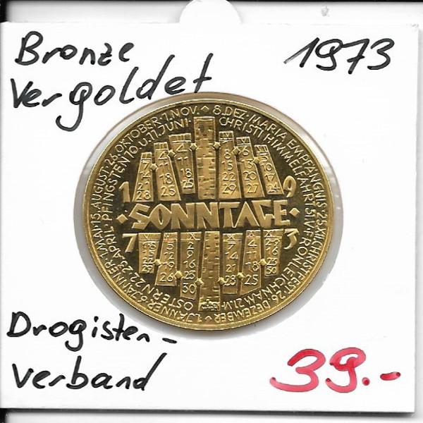 1973 Kalendermedaille Österreichischer Drogistenverband Bronze vergoldet