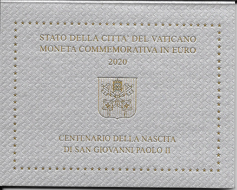 2 Euro Vatikan Vatikan 2020 100. Geburtstag Papst Johannes Paul II