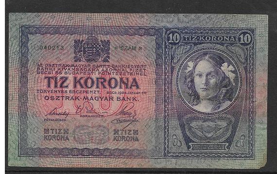 10 Kronen 2.1.1904 Ank155 Serie 2856-040213
