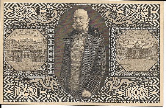 Kaiser Franz Josef 60 Jähriges Regierungs Jubiläum 1848-1908 in 3 Sprachen