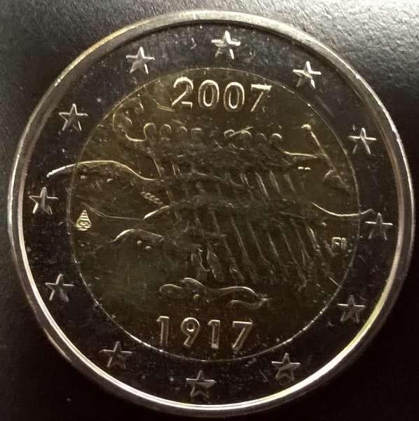2 Euro Finnland 2007 90 J.Unabhängigkeit