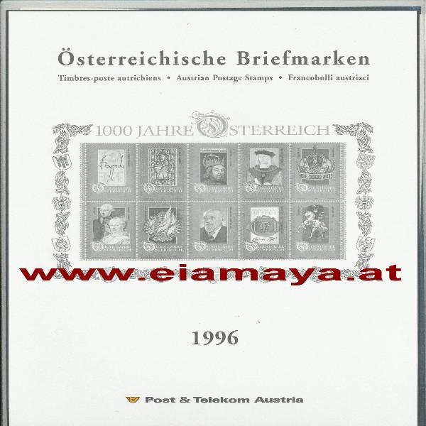 Jahreszusammenstellung der Post 1996