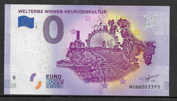 Ank.Nr.40 Welterbe Wiener Heurigenkultur Unc 0 Euro Schein 2020-1