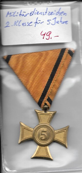 Militärdienstzeichen 2 Klasse für 5 Jahre