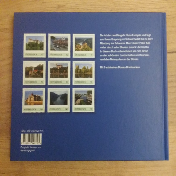Briefmarkenbuch Erlebnis Donau mit 9 exklusiven Marken