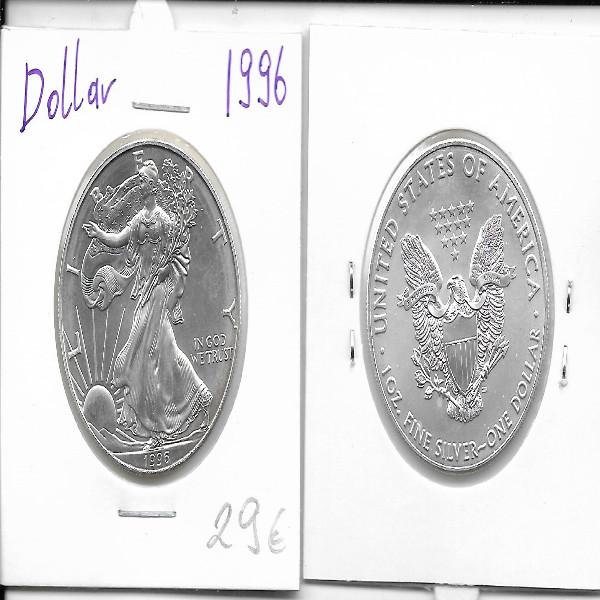1 Dollar Silber Eagle Unze 1996