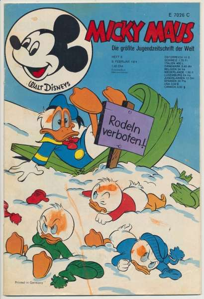 Micky Maus Nr. 6/1974