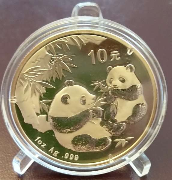 China 10 Yuan 2006 Panda 31,1g 1 Oz Silber Unze