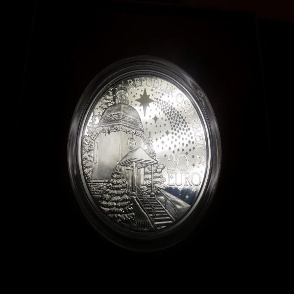 20 Euro 2018 200 Jahre Stille Nacht Silber PP ANK Nr.42