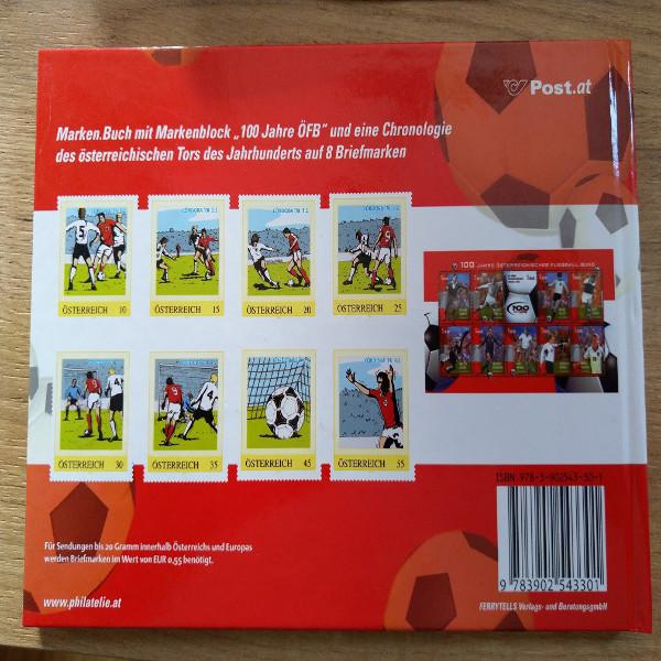 Briefmarkenbuch Österreichische Fußball Legenden mit 18 exklusiven Marken