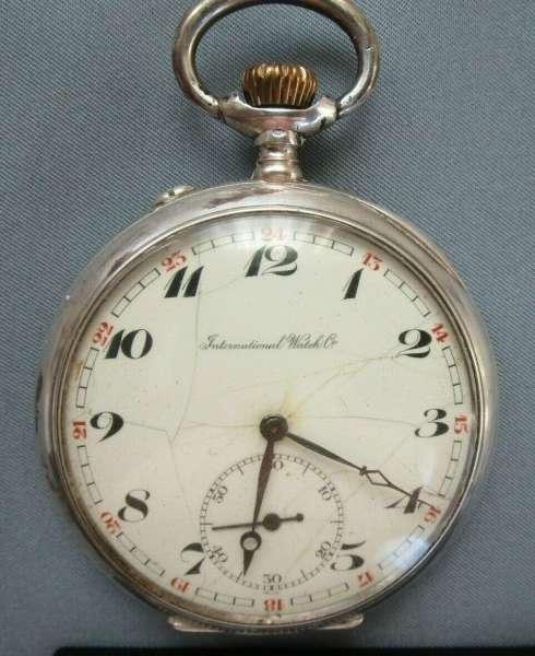 International Watch Co Schaffhausen Silber funktioniert Taschenuhr IWC