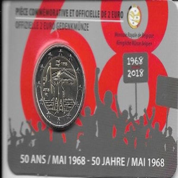 2 Euro Belgien 2018 Studentenrevolte Mai 1968