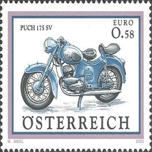 """ANK 2432 Motorräder - """"Puch 175 SV"""" 0,58 €** 2002"""