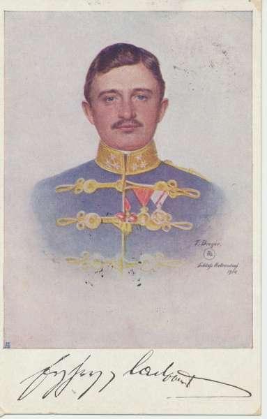 1WK Rotes Kreuz Kriegshilfsbüro Nr. 102 Kaiser Karl