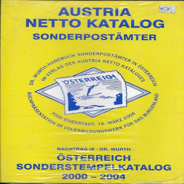 Sonderpostämter in Österreich Nachtrag 9 Dr.Würth Sonderstempelkatalog 2000-04